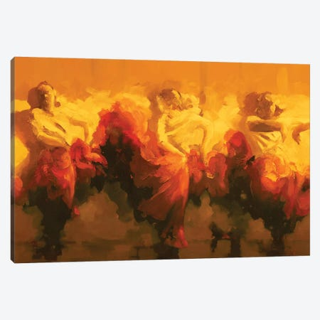 Cortejo Rojo I  Canvas Print #ZHO37} by Zil Hoque Canvas Artwork