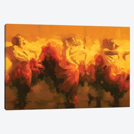 Cortejo Rojo I  Canvas Print #ZHO37} by Zil Hoque Canvas Artwork