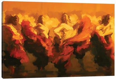 Cortejo Rojo II Canvas Art Print