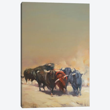 Stampede Canvas Print #ZHO42} by Zil Hoque Canvas Artwork
