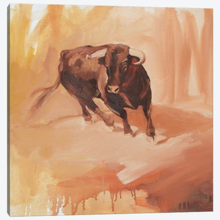 Toro Bravo III Canvas Print #ZHO44} by Zil Hoque Canvas Print