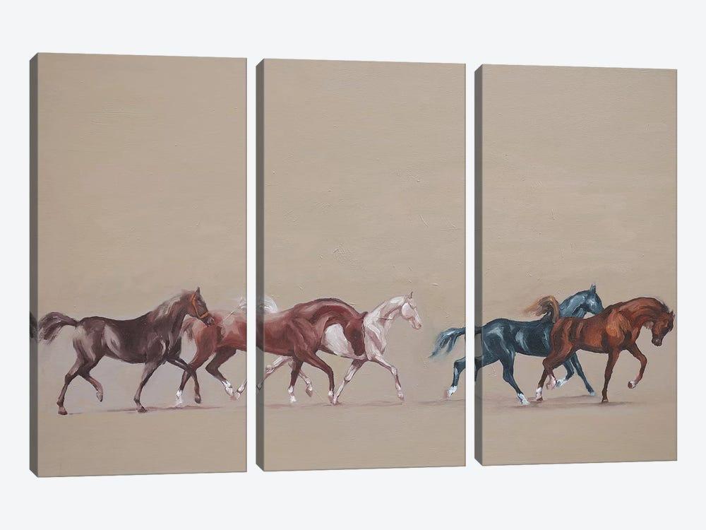 Arabians  by Zil Hoque 3-piece Canvas Artwork