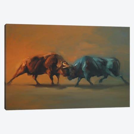 Arcadians   Canvas Print #ZHO53} by Zil Hoque Art Print