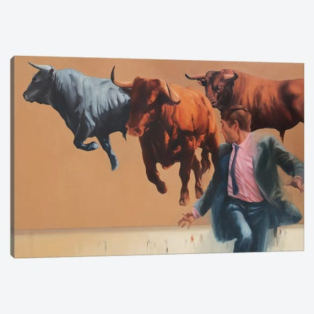 Chasing the Market   Canvas Print #ZHO56} by Zil Hoque Canvas Wall Art