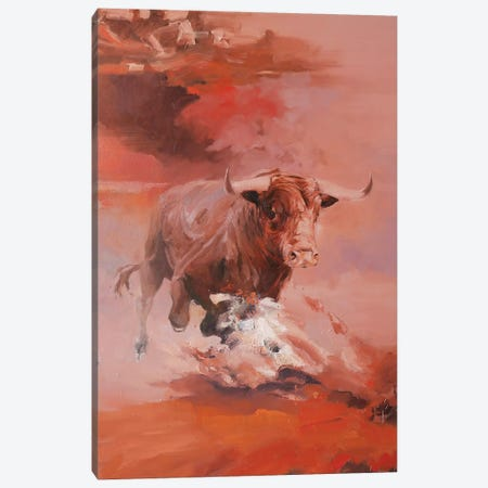 Corrida II   Canvas Print #ZHO59} by Zil Hoque Art Print