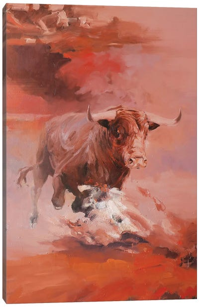 Corrida II   Canvas Art Print
