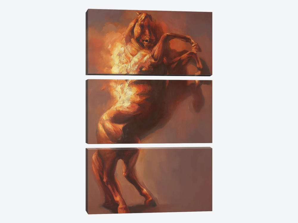 Fulcrum I   by Zil Hoque 3-piece Canvas Art