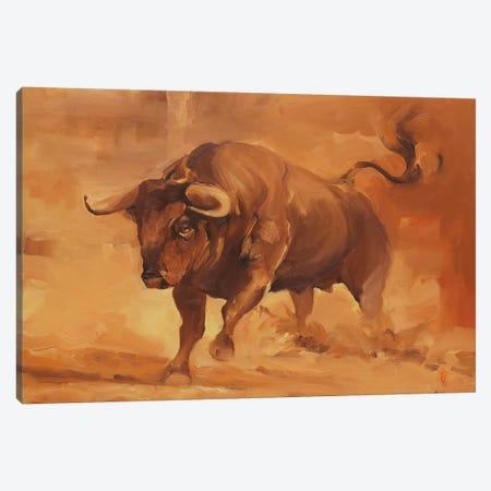 Toro Bravo IV Canvas Print #ZHO88} by Zil Hoque Canvas Art