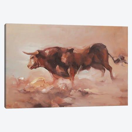 Toro Bravo V Canvas Print #ZHO89} by Zil Hoque Canvas Wall Art