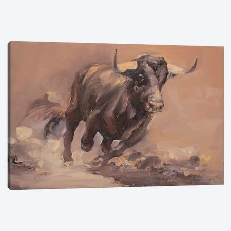 Toro Bravo VI  Canvas Print #ZHO90} by Zil Hoque Canvas Art Print