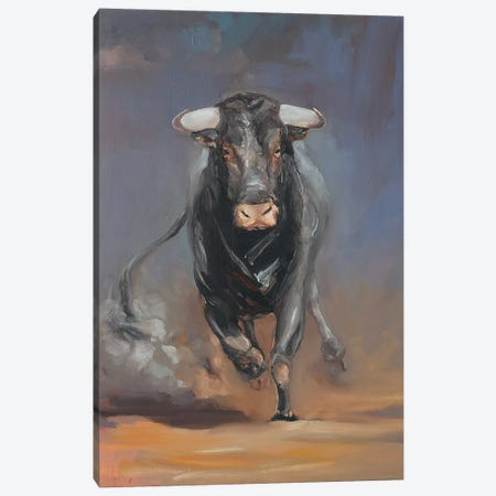 Toro Bravo VIII  Canvas Print #ZHO91} by Zil Hoque Art Print