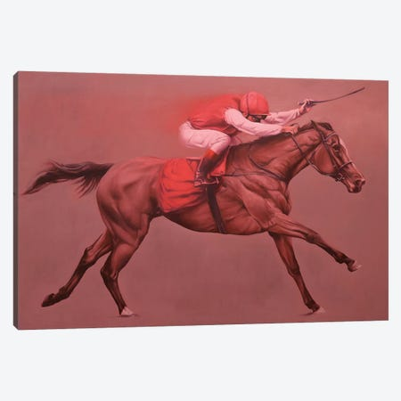 Primary Red Canvas Print #ZHO96} by Zil Hoque Canvas Artwork