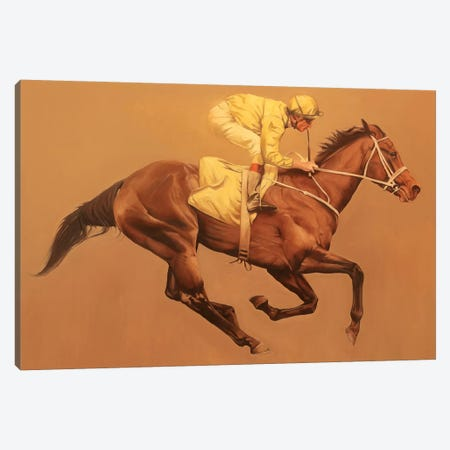 Primary Yellow Canvas Print #ZHO97} by Zil Hoque Canvas Artwork