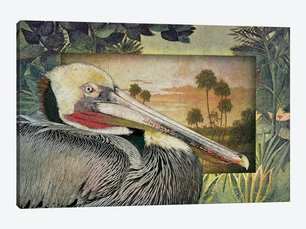 Pelican Paradise I by Steve Hunziker 1-piece Canvas Print