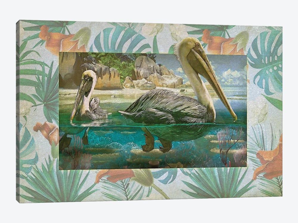 Pelican Paradise V by Steve Hunziker 1-piece Canvas Art Print
