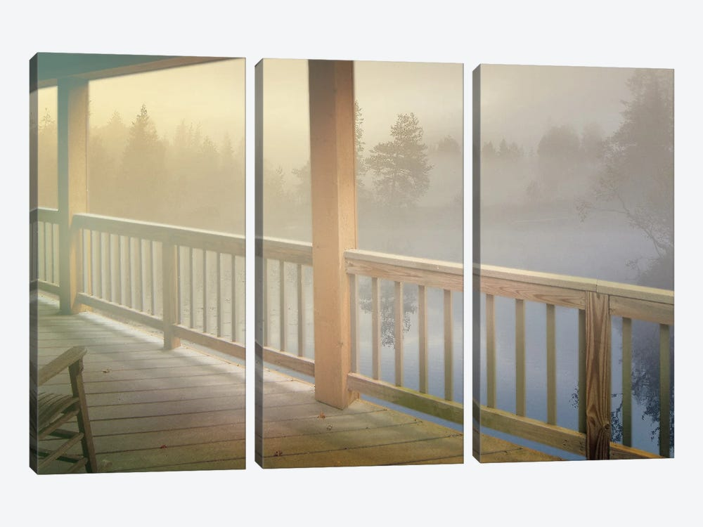Resting Wood by Steve Hunziker 3-piece Canvas Wall Art