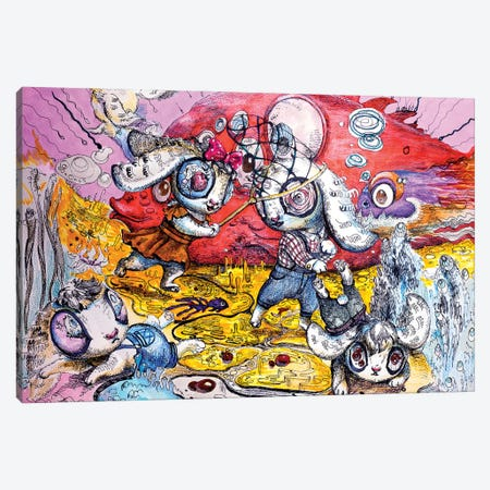 The Game Canvas Print #ZKN18} by Zoya Koinash Canvas Artwork