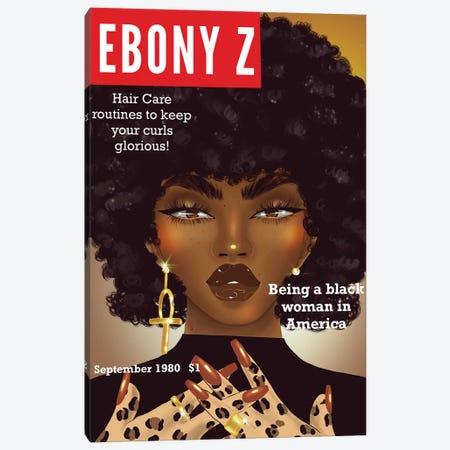 Ebony Z Canvas Print #ZLA12} by Zola Arts Canvas Art