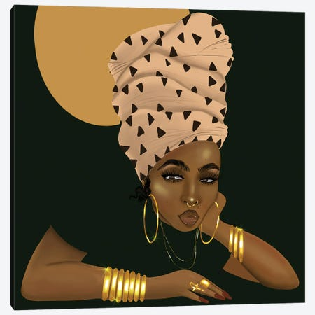 LaShonda and the Headwrap Canvas Print #ZLA15} by Zola Arts Canvas Art Print
