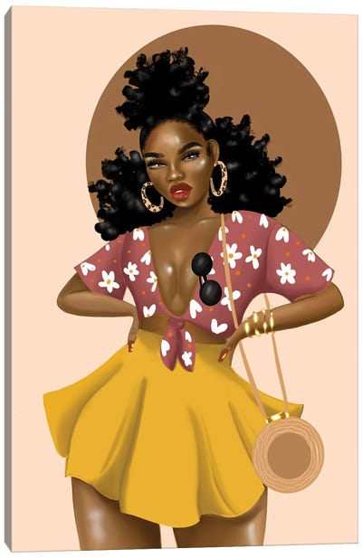 Shaneice Golden Canvas Art Print