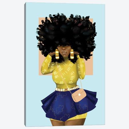 Afro Bomb Canvas Print #ZLA23} by Zola Arts Art Print