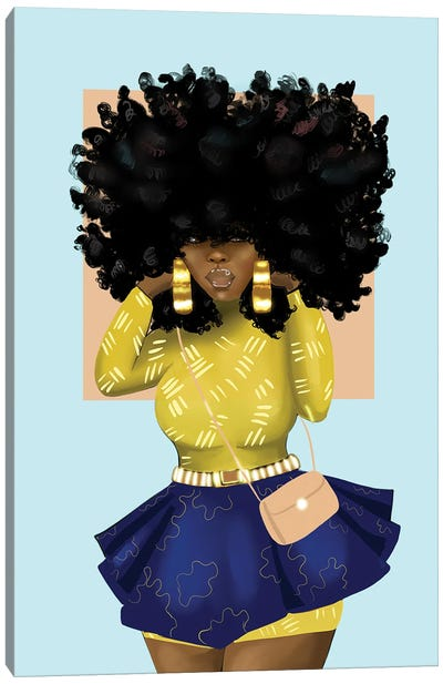 Afro Bomb Canvas Art Print