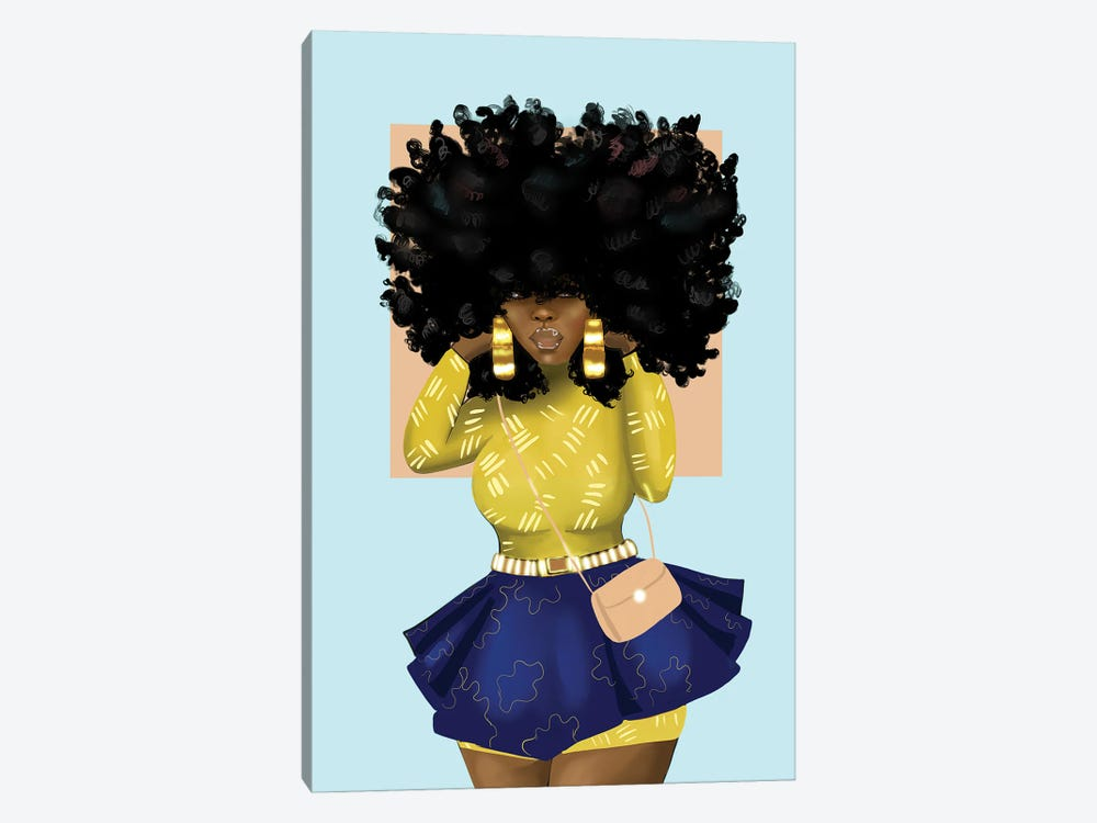 Afro Bomb by Zola Arts 1-piece Canvas Art Print
