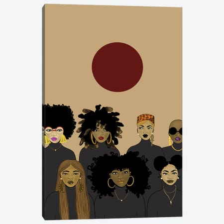 Le' Sisterhood Canvas Print #ZLA26} by Zola Arts Canvas Art