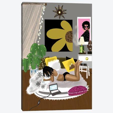 Sunday Morning Chill Canvas Print #ZLA27} by Zola Arts Canvas Art