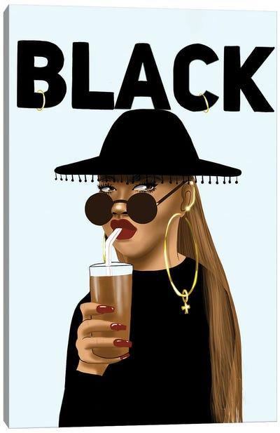 BLACK Canvas Art Print