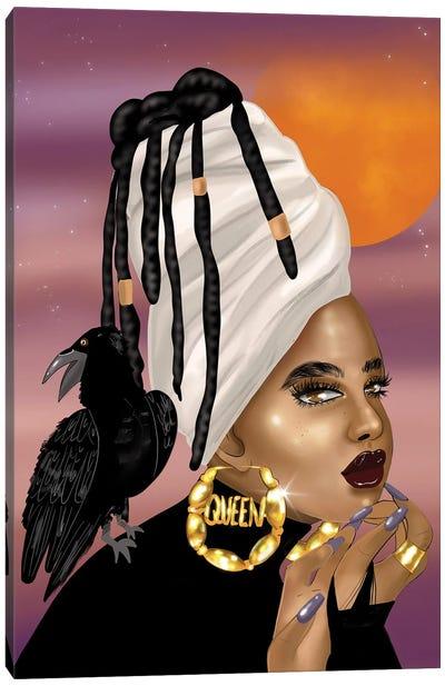 Queen Raven Canvas Art Print