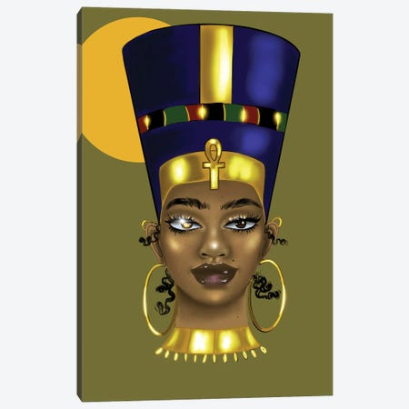 Brianna Nefertiti Canvas Print #ZLA38} by Zola Arts Canvas Wall Art