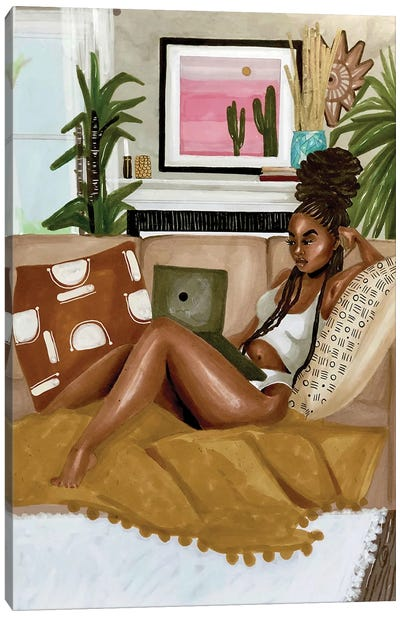 Afrocentric Scroll Canvas Art Print