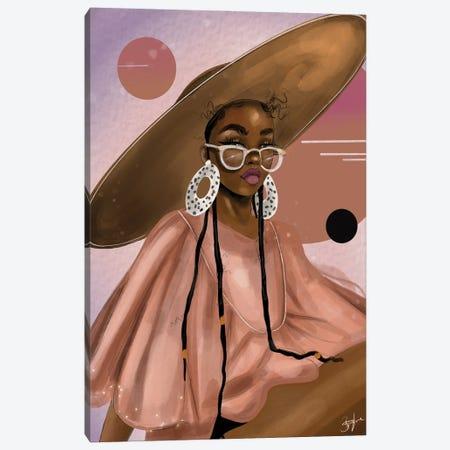 Pink Planet Canvas Print #ZLA55} by Zola Arts Art Print