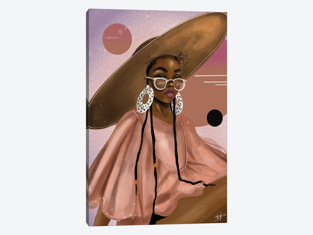 Pink Planet by Zola Arts 1-piece Canvas Art