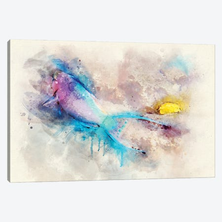 Parrotfish Watercolor Canvas Print #ZLW11} by Christine Zalewski Canvas Art