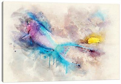 Parrotfish Watercolor Canvas Art Print