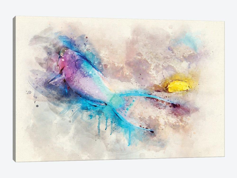 Parrotfish Watercolor by Christine Zalewski 1-piece Art Print