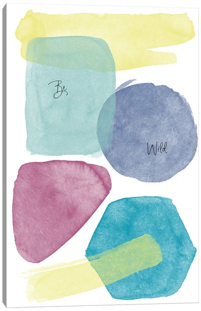 Be Wild Be Happy Watercolor Abstract II Canvas Art Print
