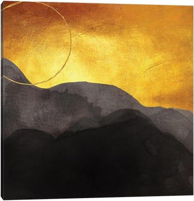 Gold Sunset Abstract Canvas Art Print