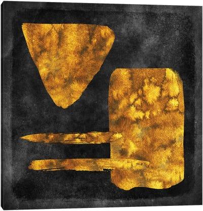Gold Watercolor Abstract I Canvas Art Print