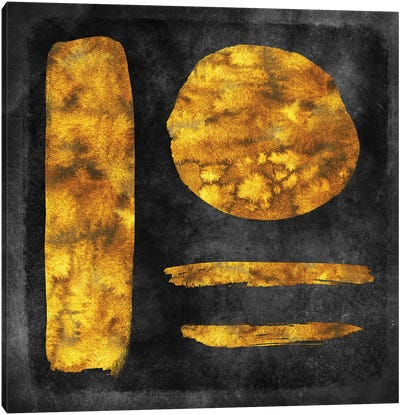 Gold Watercolor Abstract II Canvas Art Print