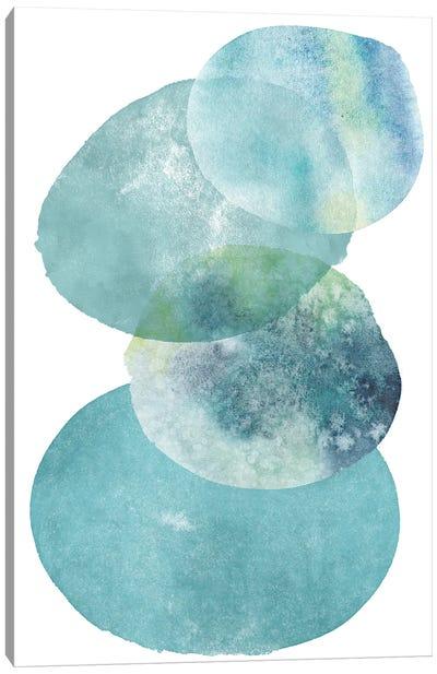 Pools Of Ocean Blue Watercolor Abstract I Canvas Art Print