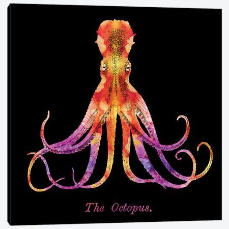Retro Octopus Tie Dye II Canvas Print #ZLW54} by Christine Zalewski Canvas Art Print