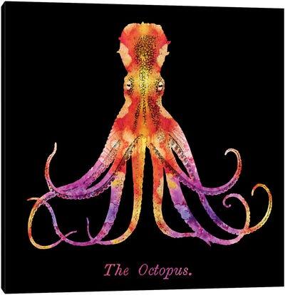 Retro Octopus Tie Dye II Canvas Art Print