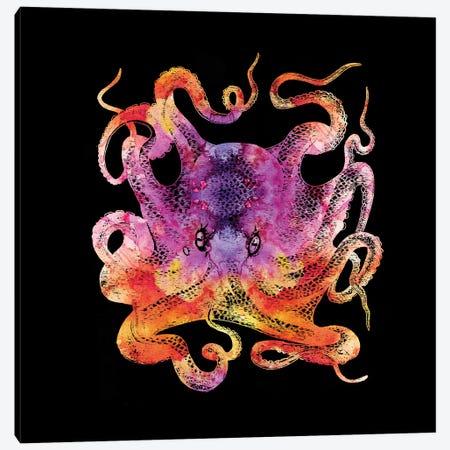 Retro Octopus Tie Dye III Canvas Print #ZLW55} by Christine Zalewski Canvas Art Print