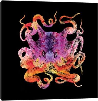 Retro Octopus Tie Dye III Canvas Art Print