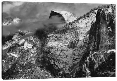 Half Dome And Valley, Yosemite National Park, California Canvas Art Print