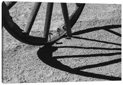 Wagon Wheel Shadows, California Canvas Art Print