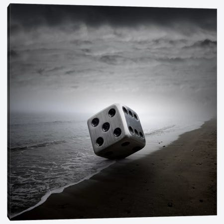 Dice Canvas Print #ZOL12} by Zoltan Toth Canvas Art Print